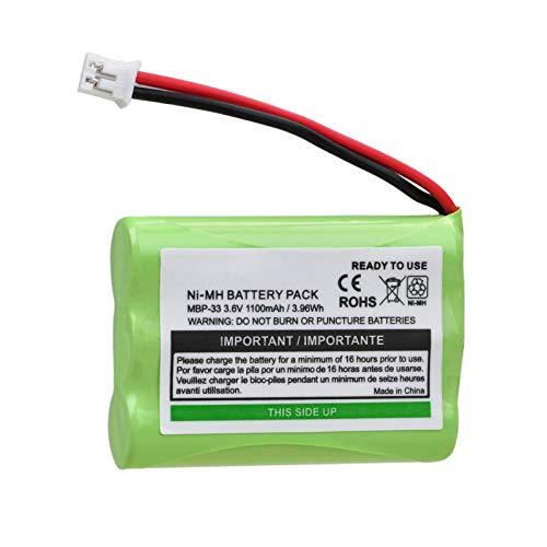 THENAGD 1100mah Mbp33 BateríAs Ni-Mh, para Motorola Monitor Mbp33s Mbp33pu Mbp36 Mbp36pu Mbp41 Mbp41bu Mbp41pu Mbp43 Mbp43bu 1pcs