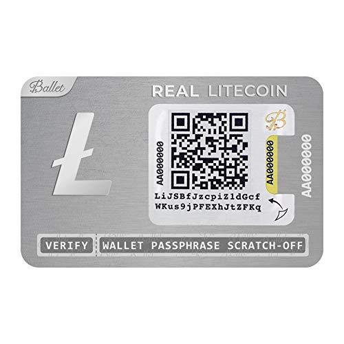 Ballet Real Litecoin (LTC) - Physisches Wallet mit Unterstützung für mehrere Kryptowährungen, Die einfachste Cold Storage Wallet für Kryptowährungen (1 Stück)