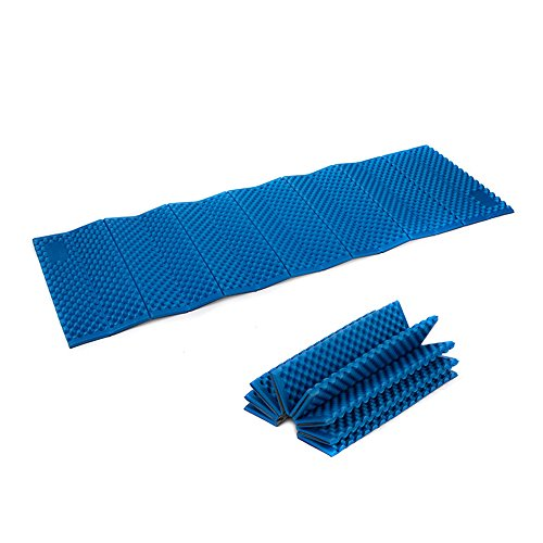 Naturehike Outdoor hiking camping picnic moisture-proof Foam Mat materassino pieghevole in tenda impermeabile Portable IXPE cuscino (blue)