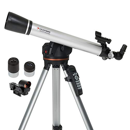 Celestron - 60LCM Computerized Refractor Telescope - Telescopes for Beginners - 2 Eyepieces - Full-Height Tripod - Motorized Altazimuth Mount - 60mm Refractor