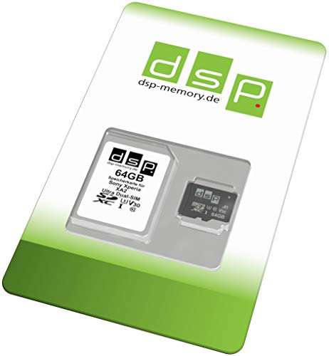 DSP Memory 64GB Speicherkarte (A1, V30, U3) für Sony Xperia XA2 Ultra Dual-SIM