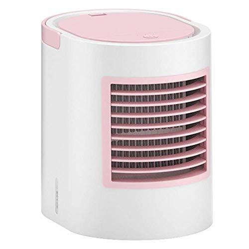 Climatizzatore Portatile Riscaldatore portatile Riscaldatore Space Air Cooler, USB Air Cooler Mini Umidificatore Purificatore Luce notturna, Aria condizionata Ventilatore per la stanza domestica Uffic