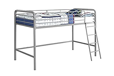 DHP Single midsleeper Metal Bed-Grey