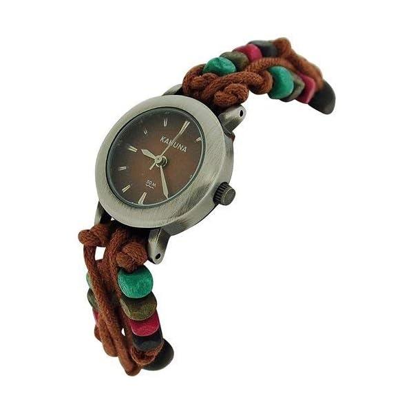 – Lot of 10Pcs Kahuna Ladies Brown String Bead Bracelet Toggle Watch