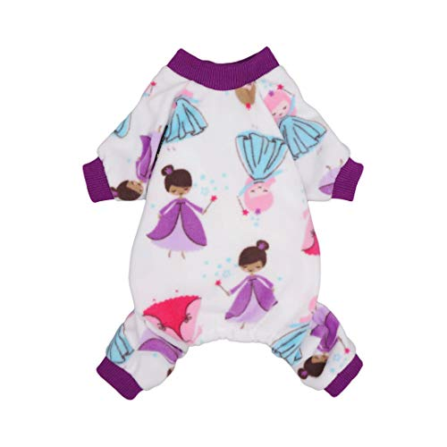 Fitwarm Fairy Pet Clothes for Dog Pajamas Onesies Cat Outfits Jumpsuits Fleece Purple Small