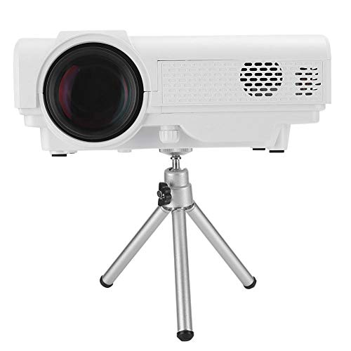 Mini videoproyector, 1920 x 1080P Full HD LED Office Conference Projector & Beamer, pantalla de teléfono móvil Mirroring portátil Home Theater Beamer Proyector con trípode para Android/IOS Sistema(EU)