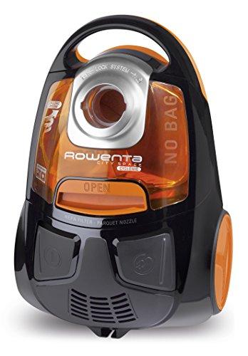 Rowenta RO2544WA Aspiradora sin bolsa, 750 W, 1.2 litros, 77 Decibelios, Naranja/Negro
