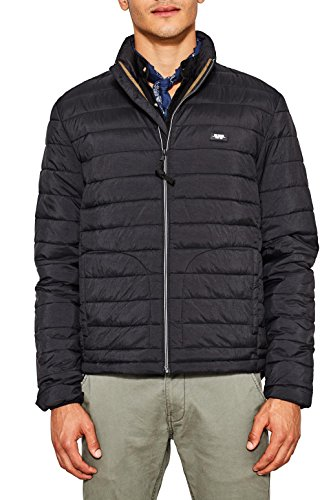 edc by ESPRIT Herren 087CC2G001 Jacke, 001/BLACK, Small
