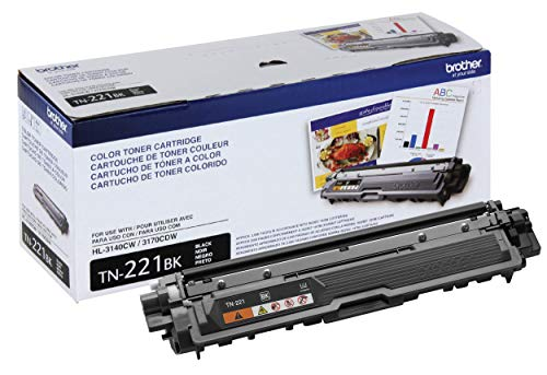 Brother Genuine Standard Yield Toner Cartridge, TN221BK, Replacement Black Toner, Page Yield Upto 2,500 Pages, Amazon Dash Replenishment Cartridge, TN221