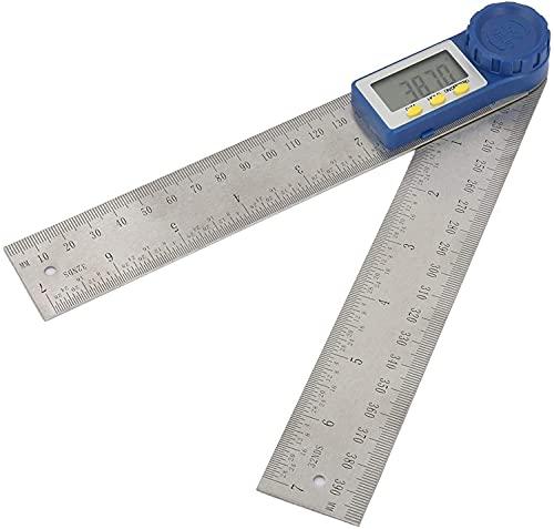 GCX Conveniencia Medidor de ángulo Acero Inoxidable Duradero 1pcs ± Fotor de ángulo de 0,3 Grados con Pantalla Digital Grande para la carpintería De múltiples Fines