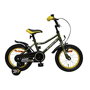 Comfort Bikes AMIGO Booster – Kids bike – 14 Inch – Boys – With training wheels and coaster brake – Green [tag]