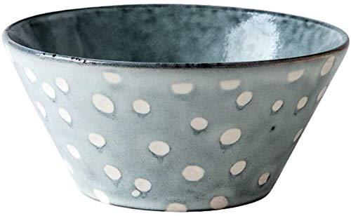 SLZFLSSHPK Bol Soupe Saladiers Bowl Bol de riz Petit Bol à soupe Céramique bol de nouilles Dot modèle 4,5 pouces / 5,5 pouces (Size : 4.5inches)