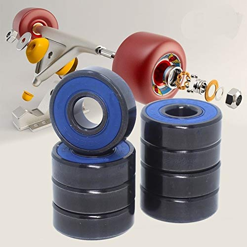 No Logo Präzisions-Radialkugellager ABEC9 608 2RS Inline-Skate Radlager 608 RS Anti Rust Skateboard Kugellager 608RS Red Sealed Welle Small Size Bearing 8x22x7 mm (Diameter : 608RS A5 CNC 10PCS)