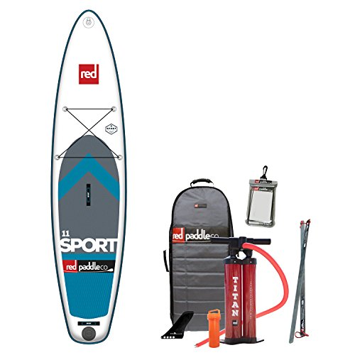 Red Paddle Co 2017 11'0 Sport Inflatable Stand Up Paddle Board + Bag, Pump, Paddle & Leash