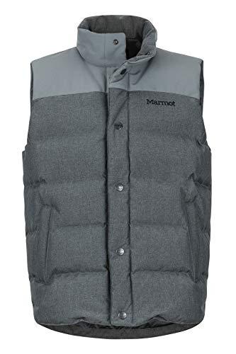 Marmot Fordham Men's Down Puffer Vest, Cinder, Medium