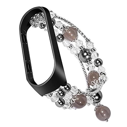 Pulsera de cadena de las gallinas de las mujeres de las mujeres para la banda MI 6 5 4 3 Strap de la joyería de la banda de reloj para MIBAND METAL ENLACE Cinturón de pulsera DFKE