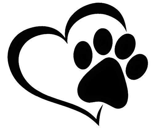Paw Print Heart - Vinyl Decal Sticker Window Bumper Car Van Bus Laptop Phone Walls Bike Funny Joke JDM EURO DUB Dog Cat