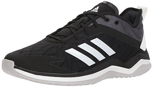 adidas Men's Speed Trainer 4 Baseball Shoe, Black/Crystal White/Carbon, 10 M US
