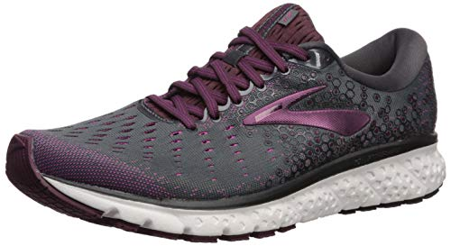 Brooks Womens Glycerin 17 Running Shoe - Ebony/Wild Aster/Fig - B - 11.0