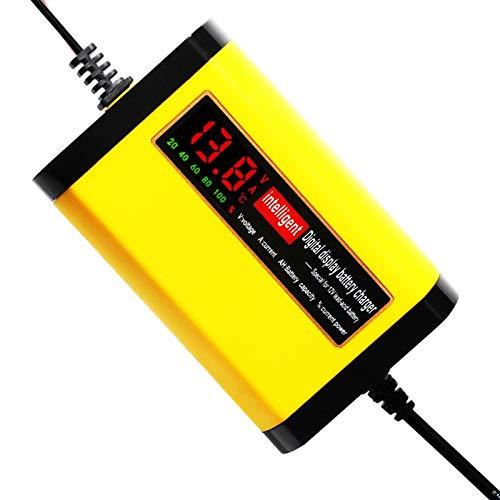 Cargador Baterias Coche 12V 2A Smart Car cargador de batería de la motocicleta auto automático 12 V Volt Inteligentes 3 Etapas Cargador De BateríA De Coche (Color : 1)