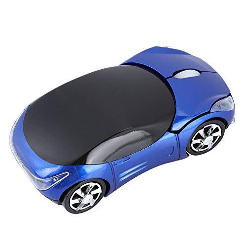 ASHATA Bluetooth Wireless Mouse,Automobile Sportiva Portatile Mouse Ottico Bluetooth a Forma di Auto Sportiva 2.4G con Ricevitore USB, 1600 DPI Ergonomico Mouse per PC Desktop Portatil(Giallo)