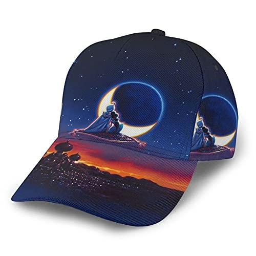 JSDS Aladdin Magic Lamp - Gorra de béisbol clásica con borde curvado,...