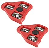 CyclingDeal Bike Cleats Compatible with Look Delta - Indoor Cycling & Road Bike Bicycle Cleat Set - Fully Identical or Compatible with Peloton Spin Bikes Pedals and Shoes (9 Degree Float)