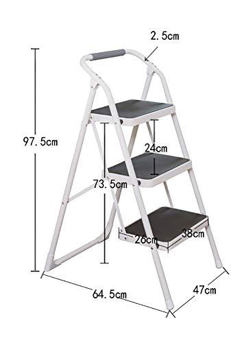yjll trapladder 3 treden opstapladder stoelen vouwladder met handvat Outdoor draagbare trapladder/plank/voetplaat/bloemenrek