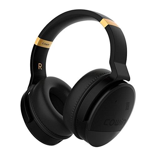 Cowin E8 Aktive Noise Cancelling Kopfhörer Bluetooth Kopfhörer mit Mikrofon Hi-Fi Deep Bass Drahtlose Kopfhörer Over-Ear Stereo Sound 20 Stunden Spielzeit für Reisen Arbeit TV Computer Phone (Gold)