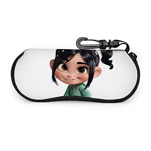 Epaynetwork Fundas de Gafas Wreck-It Ralph Cinturón de neopreno impermeable con cremallera, gafas de seguridad, mosquetón, gafas de sol portátiles, bolso suave
