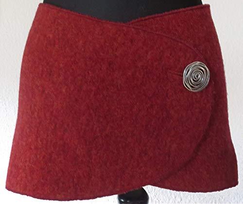 NAMSA - NIERENWÄRMER/Wolle-Gürtel aus 80% Wolle, 20% Baumwolle - Strick, Hüftschmeichler, Cacheur, Wollschal, HÜFTGÜRTEL mit silberfarbenem Metallknopf