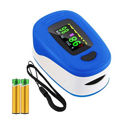 Pulsoximeter, Oximeter für Messung der Sauerstoffsättigung im Blut, Fingerpulsoximeter mit LED-Display. Für Kinder, Erwachsene, ältere Menschen, Familien und