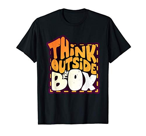 Think Outside The Box Novelty Graphic T-Shirt & Cool Designs Camiseta