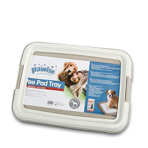 PAWISE Pet Training Pad Holder Puppy Training Pads Portable Potty Trainer Indoor Dog Potty Dog Training Holder (19.2