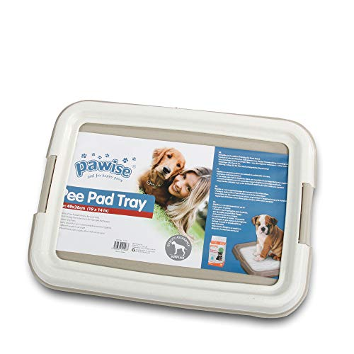 "PAWISE Pet Training Pad Holder Puppy Training Pads Portable Potty Trainer Indoor Dog Potty Dog Training Holder (19.2""x14"")"