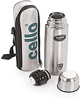 Cello Lifestyle Stainless Steel Flask 1000Ml Silver