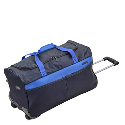 24' Large Wheeled Luggage Travel Holdall Duffle Bag on Wheels Black/Blue