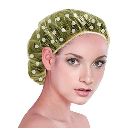 MUCHEN SHOP Einweg Duschhaube,100 Stücke Einweg Dusche Kappen Plastik Haarhauben Kunststoff Haarhaube Shower Cap für Salon Spa Reise Hotel Dusche Transparente Gelb