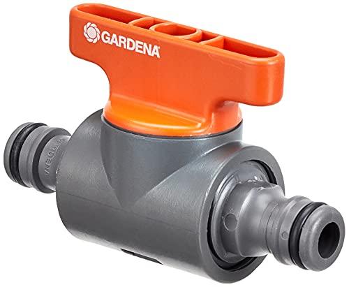 Gardena 770754 Kupplung mit Regulierventil: Schlauchkupplung zum Regulieren oder Absperren des Wasserdurchflusses im Schlauchverlauf, Reichweitenbestimmung von Regnern, verpackt (2976-20)
