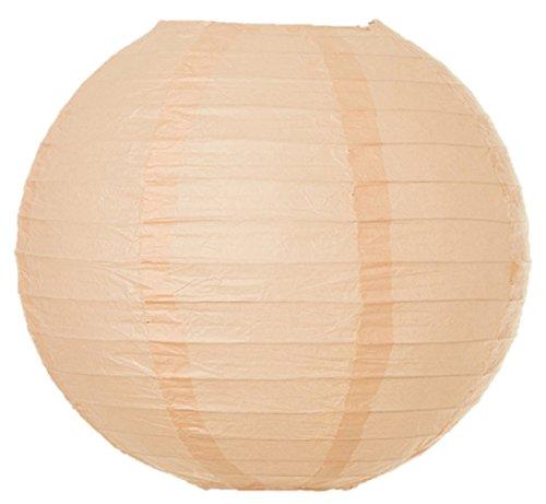 Matissa - Suspension/boule japonaise en papier pour mariage, anniversaire ou fête - 10/15/20/25/30/35/40 cm, pêche, 6\