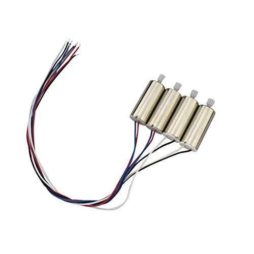 Fytoo 4PCS Forward and Reverse Motor for HS110D HS200D Remote Control Quadcopter Spare Parts Drone Motor