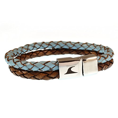 WAVEPIRATE® Echt Leder-Armband SWELL F Heaven&Earth 24 cm Edelstahl-Verschluss in Geschenk-Box Surfer Damen Herren