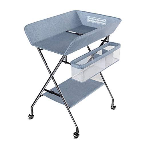 Baby products Station de Change pour bébé bébé Pliable Table à Langer avec Rangement, Massage Commode bébé Nouveau-né, bébé Multifonctionnel Table à Langer ZDDAB