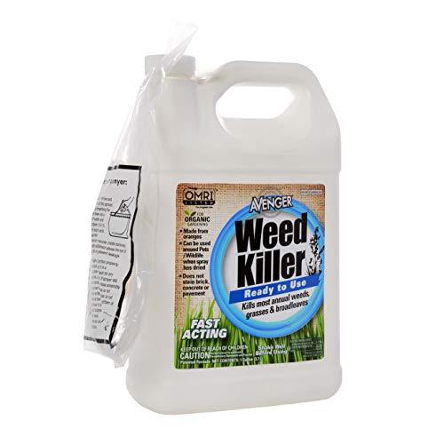 Avenger Organics Weed Killer for Organic Gardening, 1 Gallon
