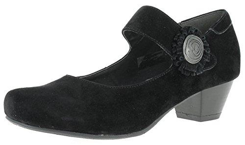 HIRSCHKOGEL Damen Pumps 3002710 Trachtenschuhe | Oktoberfestschuhe | Dirndlschuhe| Schuhe zum Drindl | Schuhe zur Lederhose | Pumps zur Jeans, Farbe:schwarz, Größe:37 EU