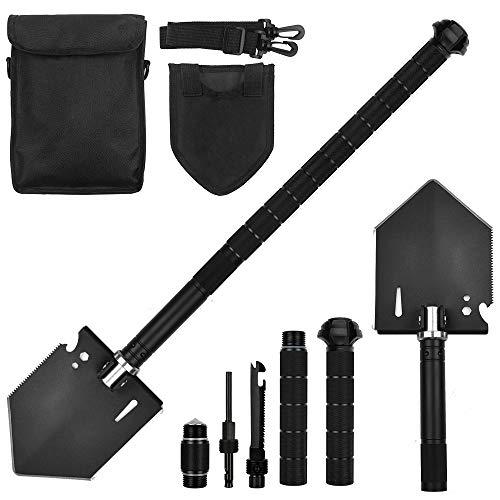 Yeacool Folding Camping Shovel, Metal Detecting Shovel Multitool, 180 Degree Army Survival Spade...