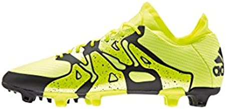 adidas X 15.1 FG/AG Mens Football Boots Soccer Cleats (UK 7.5 US 8 EU 39 1/3, Yellow Black B32782)