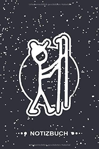 Notizbuch: Skifahrer I 120 weiße Seiten I Liniert I Schönes Notizheft I Skizzenbuch I Tolles Geschenk für lustige Skiläufer und Schifahrerinnen