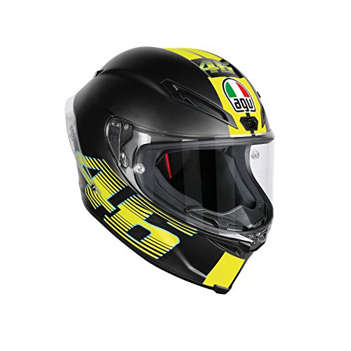 AGV Motorradhelm Corsa R E2205 Top PLK, Rossi Goodwood Gelb, Größe XS