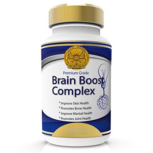 Potenciador Cerebral Nootrópicos Fuerza Max Con Vitaminas Para Memoria, Foco, Concentración, Mejoramiento de la Función Cognitiva y Neuro Nutrición